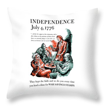 They Kept The Faith - Ww2 Throw Pillow by War Is Hell Store