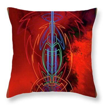 Throw Pillow featuring the painting They Like Red  by Alan Johnson