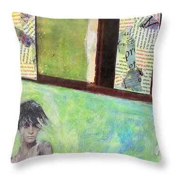 They Say Throw Pillow