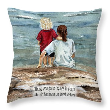 They See The Works Of The Lord  Throw Pillow by Nancy Patterson