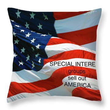 Throw Pillow featuring the photograph They Sell Us Out by Paul W Faust - Impressions of Light
