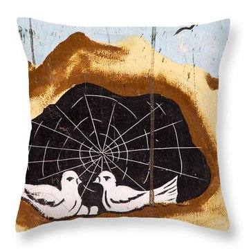 Throw Pillow featuring the photograph They Spun A Web For Us by Jez C Self