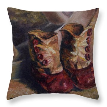 They Walked And Walked And Walked Throw Pillow