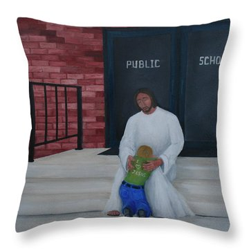 They Won't Let Me In Either. Throw Pillow by Timothy Smith