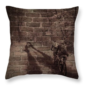 Hitting The Wall Throw Pillow
