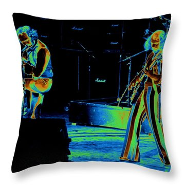 Thick As An Electric Brick Throw Pillow by Ben Upham