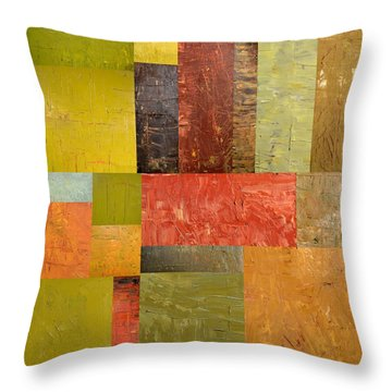 Thick Paint Abstract Ll Throw Pillow by Michelle Calkins