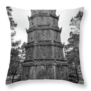 Thien Mu Pagoda Throw Pillow