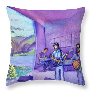 Thin Air At Dillon Amphitheater Throw Pillow by David Sockrider