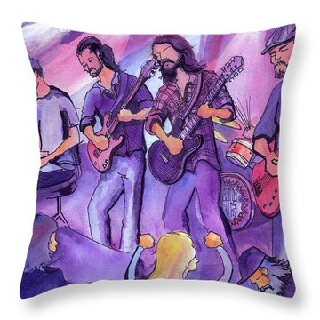 Thin Air At The Barkley Ballroom In Frisco, Colorado Throw Pillow by David Sockrider