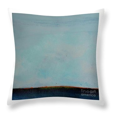 Throw Pillow featuring the painting Thin Orange Line by Kim Nelson