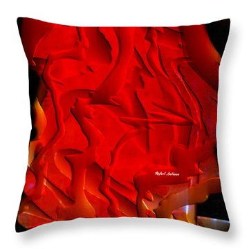 Throw Pillow featuring the digital art Things Are Getting Hot by Rafael Salazar