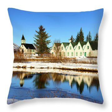 Throw Pillow featuring the photograph Thingvellir Iceland  by Matthias Hauser