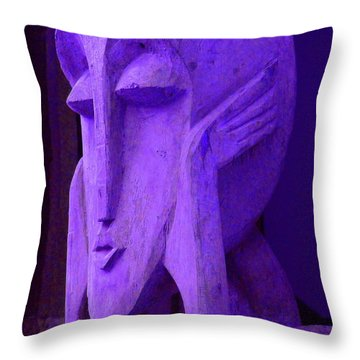 Think About It Throw Pillow by Debbi Granruth