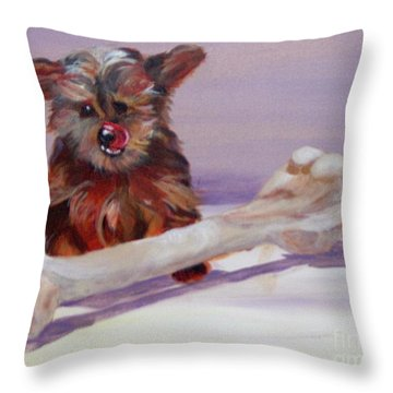 Throw Pillow featuring the painting Think Big by Saundra Johnson
