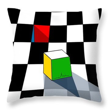 Think Different Throw Pillow by Miki De Goodaboom