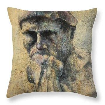 Think Throw Pillow by John Henne