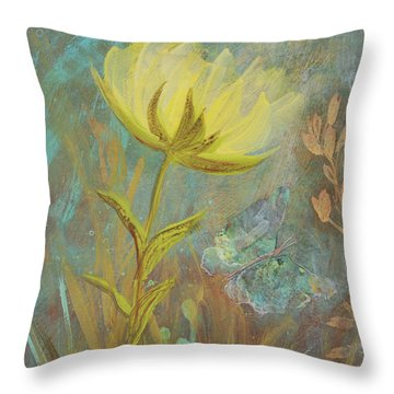 Throw Pillow featuring the painting Think On Good Things by Robin Maria Pedrero