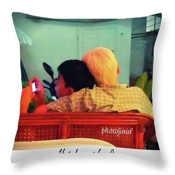 Throw Pillow featuring the photograph Thinking About Escaping Us by Mr Photojimsf