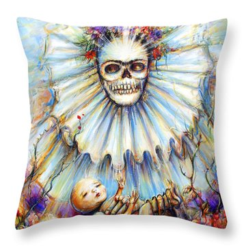 Throw Pillow featuring the painting Thinking About Life by Heather Calderon