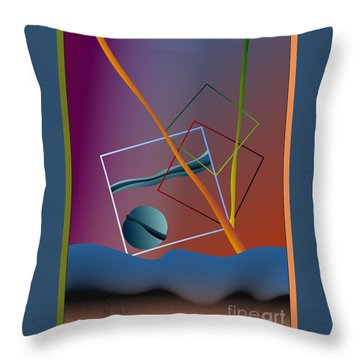 Thinking About The Future Throw Pillow
