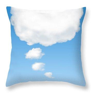 Thinking Cloud Throw Pillow by Carlos Caetano