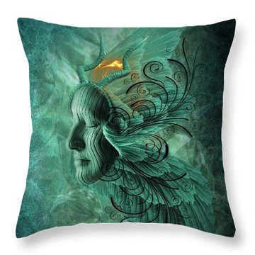Thinking Deep  Throw Pillow