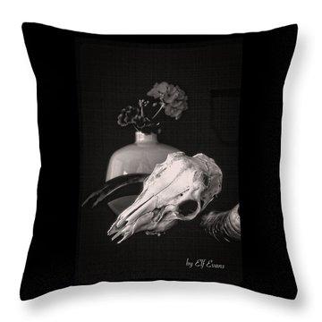 Thinking Of Georgia O'keeffe Throw Pillow by Elf Evans