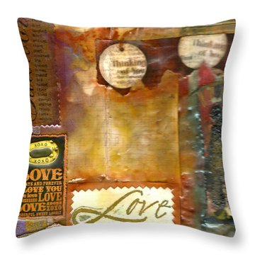 Thinking Of You Throw Pillow by Angela L Walker