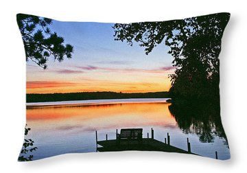 Thinking Of You Throw Pillow by Bill Morgenstern