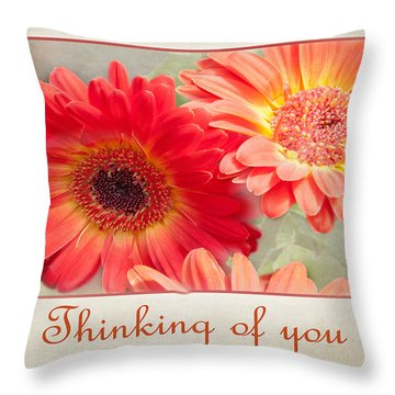Thinking Of You Throw Pillow by Geraldine Alexander