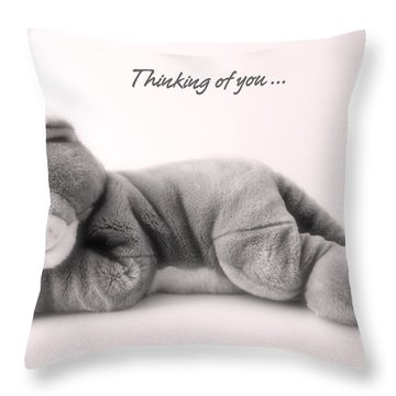 Throw Pillow featuring the photograph Thinking Of You by Gina Dsgn