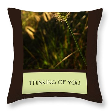 Thinking Of You Throw Pillow by Mary Ellen Frazee