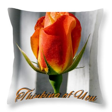 Thinking Of You, Rose Throw Pillow