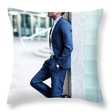 Thinking Outside Throw Pillow