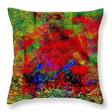 Throw Pillow featuring the digital art Thinking by Visual Artist Frank Bonilla