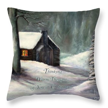 Thinking Warm Thoughts Of You Throw Pillow