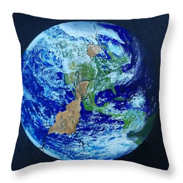 Throw Pillow featuring the painting Thinner Than An Eggshell by Kevin Daly
