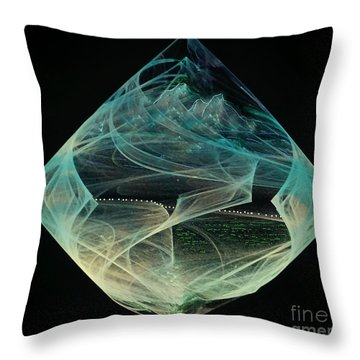 Thinning Of The Veil Throw Pillow by Diamante Lavendar