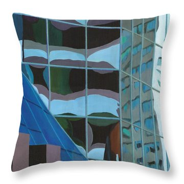 Third And Earll Throw Pillow by Alika Kumar