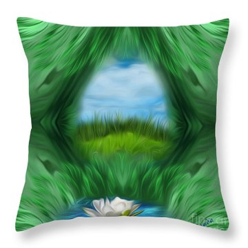 Third Eye Dimension Throw Pillow