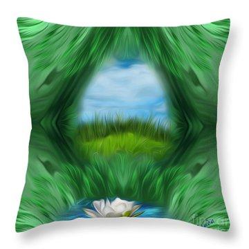 Third Eye Dimension Throw Pillow by Giada Rossi