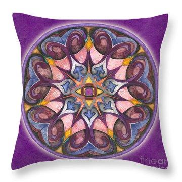 Third Eye Mandala Throw Pillow
