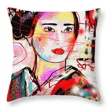 Third Generation  Throw Pillow by Sladjana Lazarevic