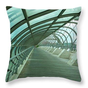 Third Millenium Bridge, Zaragoza, Spain Throw Pillow