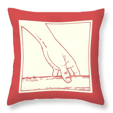 Throw Pillow featuring the drawing Third Station- Jesus Falls The First Time by William Hart McNichols