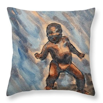 Third World Baby Meme Reddit Throw Pillow
