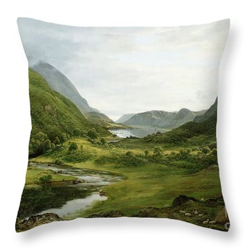 Thirlmere Throw Pillow by John Glover