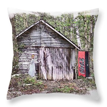 Thirst Quest Throw Pillow by Rose Guay