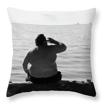 Thirsty Shores  Throw Pillow